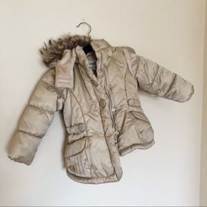 London fog gold jacket little girls size 4